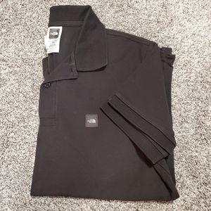 The North Face black short sleeve polo shirt